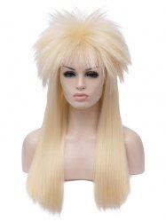 Long Shaggy Straight Alacos Rock Star Cosplay Halloween Party Wig -