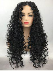 Long Center Parting Curly Synthetic Wig -