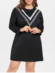 Plus Size Casual Long Sleeve Dress -