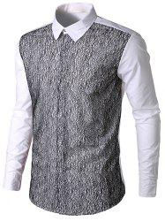 Front Mesh Embellished Casual Shirt -
