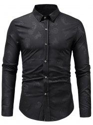 Paisley Print Long Sleeve Shirt -