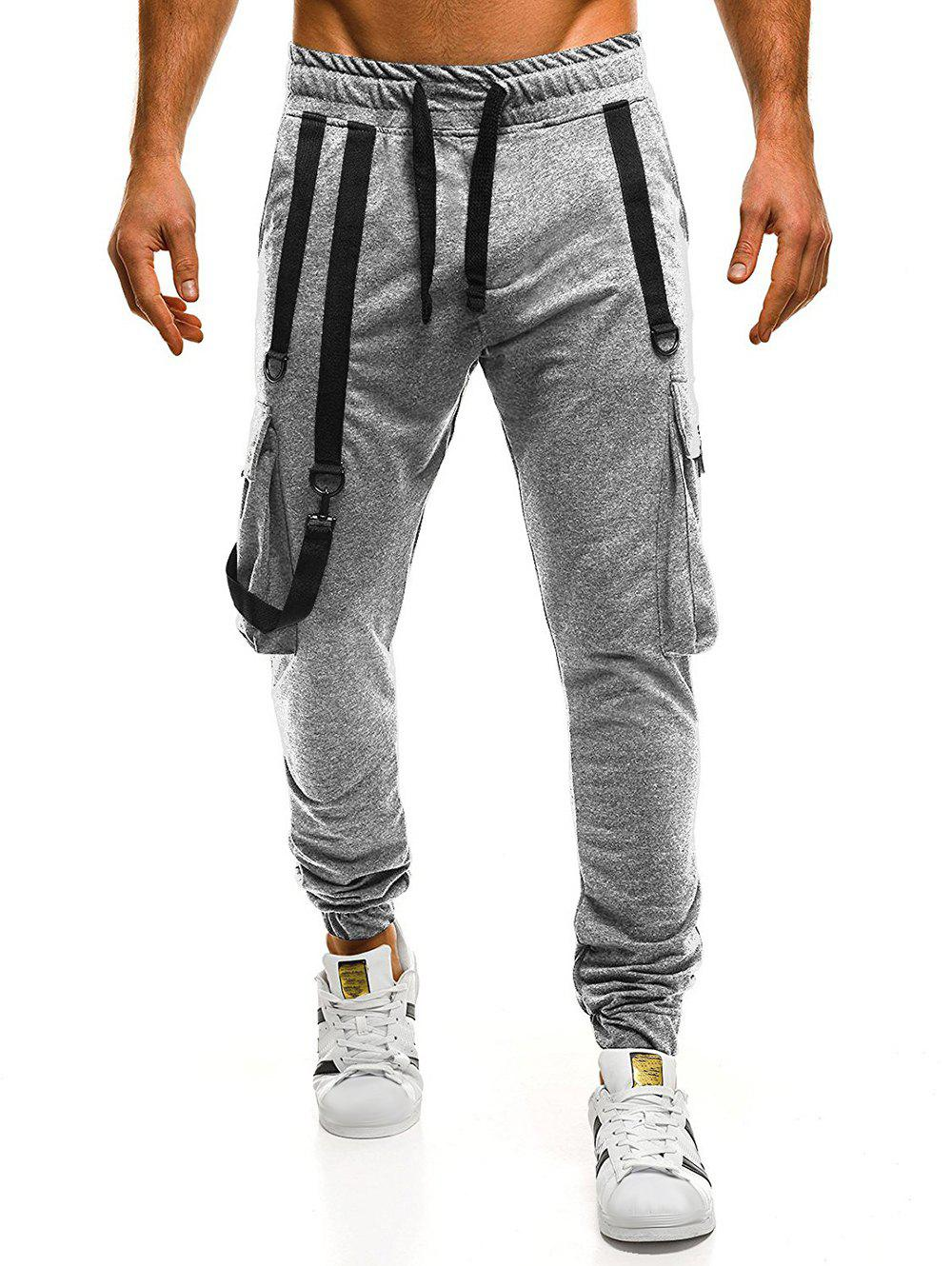 Outfit Strap Embellished Drawstring Waist Jogger Pants