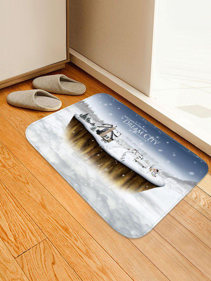 Latest Dream City Printed Christmas Non-slip Floor Mat
