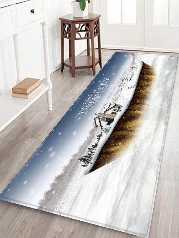 Outfits Dream City Printed Christmas Non-slip Floor Mat
