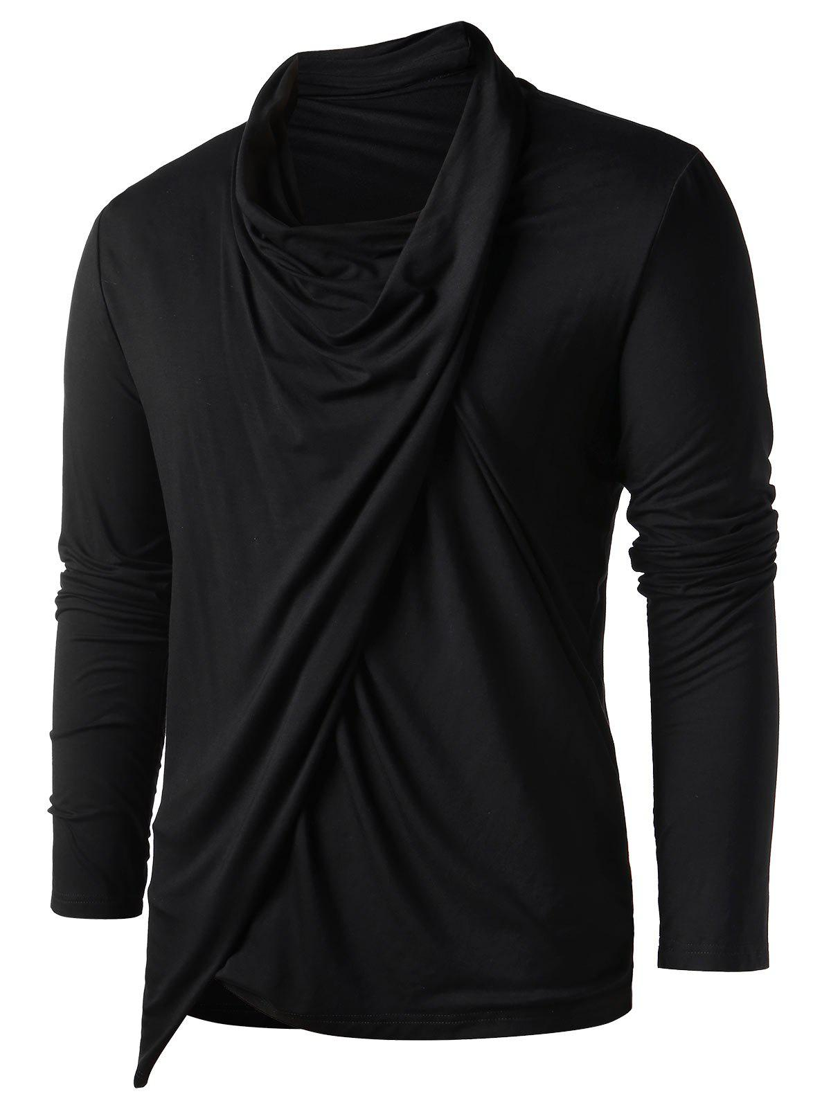 Online Asymmetric Heaps Collar Long Sleeve T-shirt