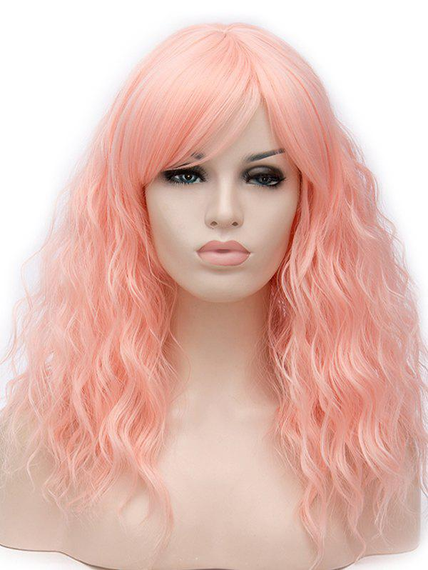 Unique Long Side Bang Natural Wavy Cosplay Synthetic Wig