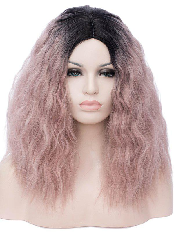 Chic Medium Side Parting Ombre Natural Wavy Party Synthetic Wig