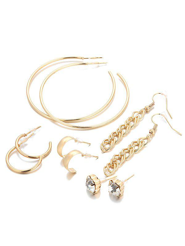 Chic Overstatement Infinity Alloy Rhinestone Earrings Set