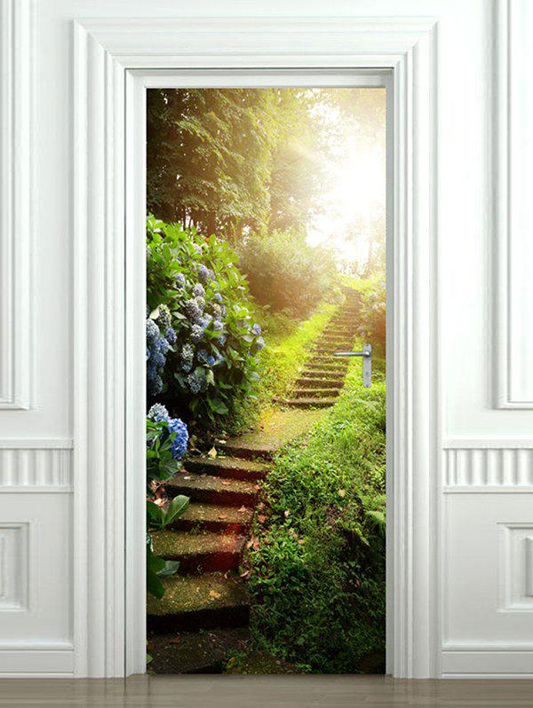 New Forest Stairs Print Door Cover Stickers