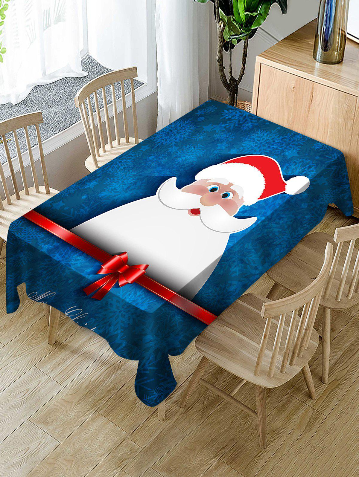 Best Christmas Santa Claus Print Fabric Waterproof Tablecloth