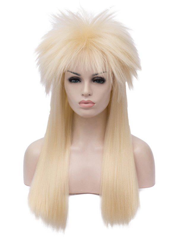 New Long Shaggy Straight Alacos Rock Star Cosplay Halloween Party Wig