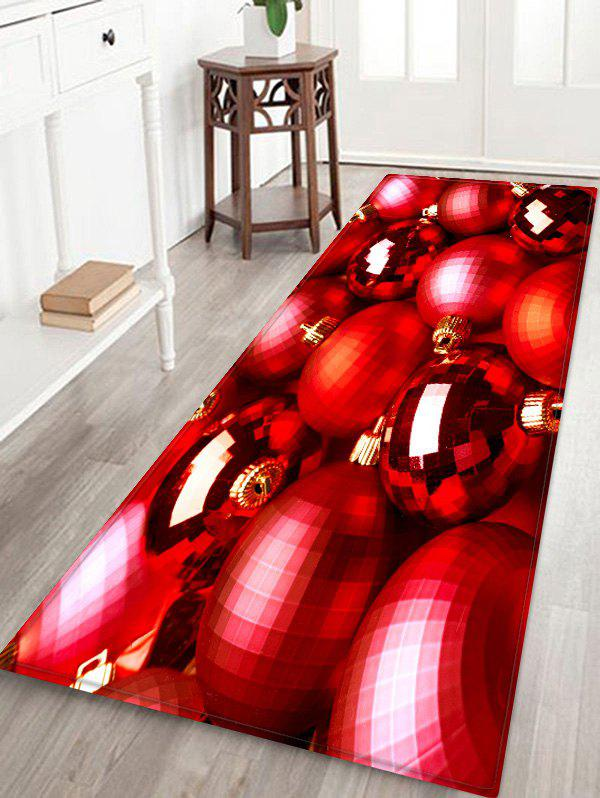 Buy Christmas Baubles Printed Area Mat