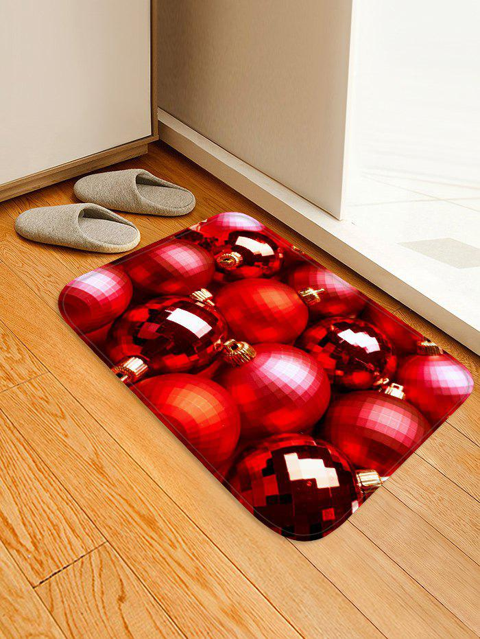 Chic Christmas Baubles Printed Area Mat