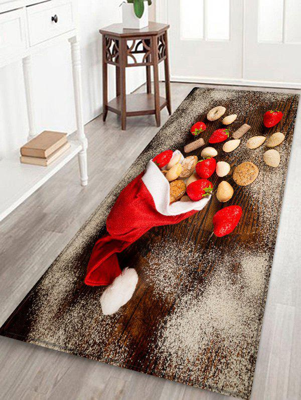 Buy Christmas Cap and Biscuits Printed Area Rug Runner
