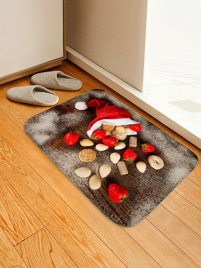 New Christmas Cap and Biscuits Printed Area Rug Runner