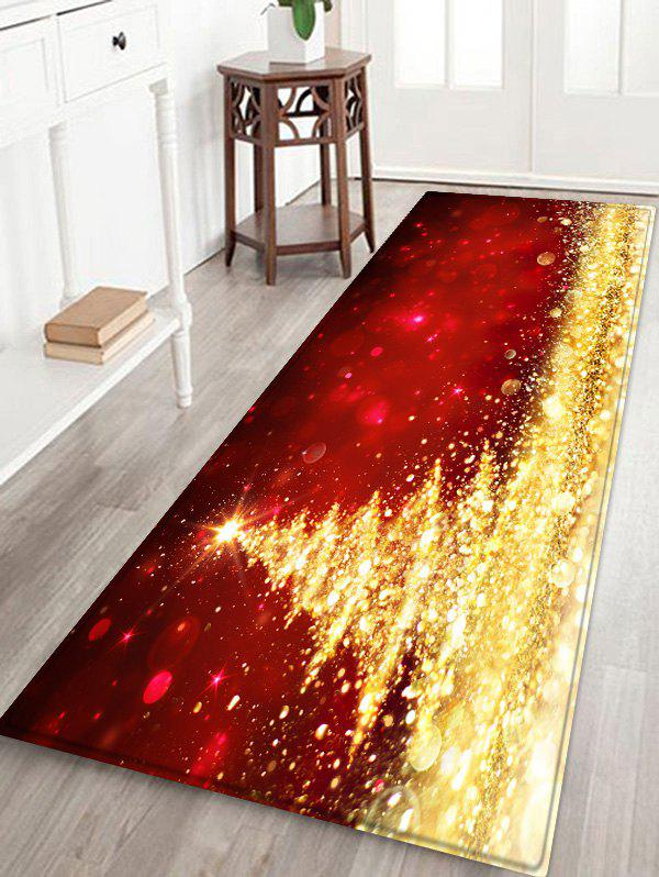 Outfits Shiny Christmas Tree Printed Antiskid Area Mat