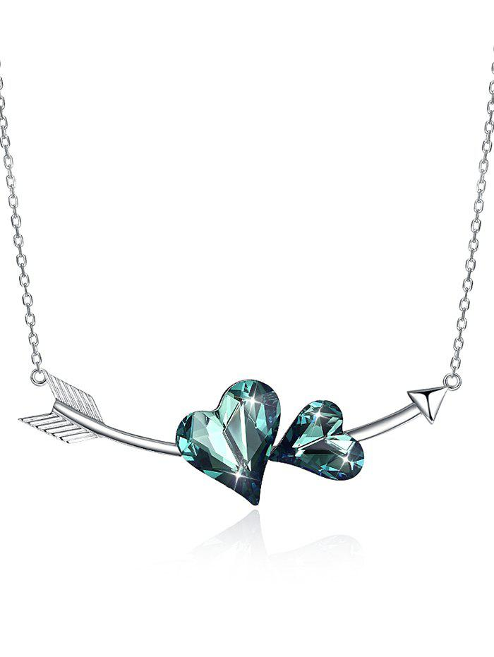 Hot Crystal Heart Arrow Pendant Necklace