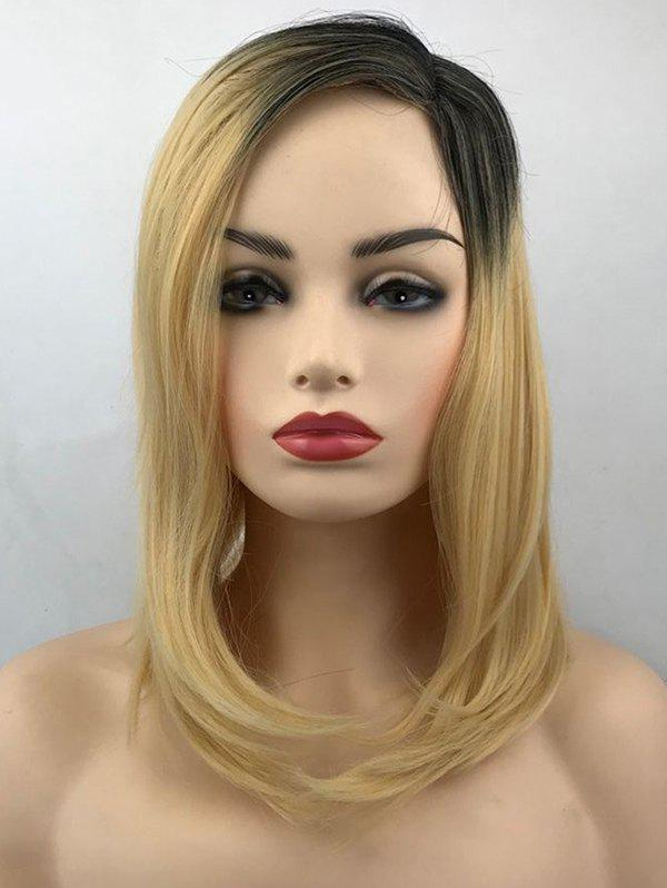 Outfits Medium Side Parting Colormix Straight Synthetic Wig
