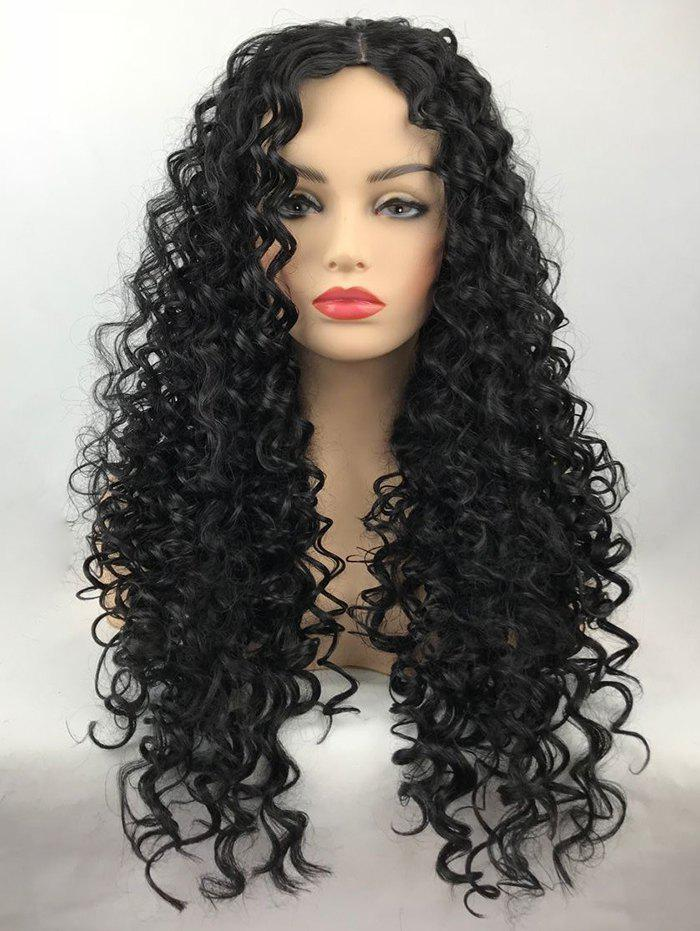 Online Long Center Parting Curly Synthetic Wig