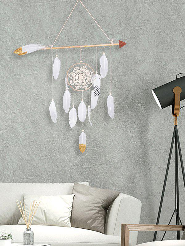 Outfits Handmade Feathers Arrow Dream Catcher Wall Hanging