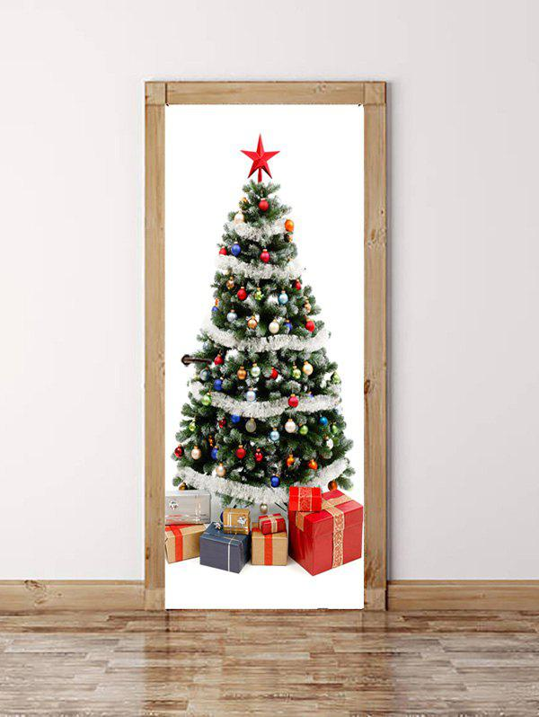 Buy Christmas Tree Gift Print Door Cover Stickers