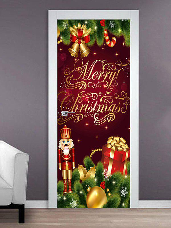 Merry Christmas King Print Door Cover Stickers