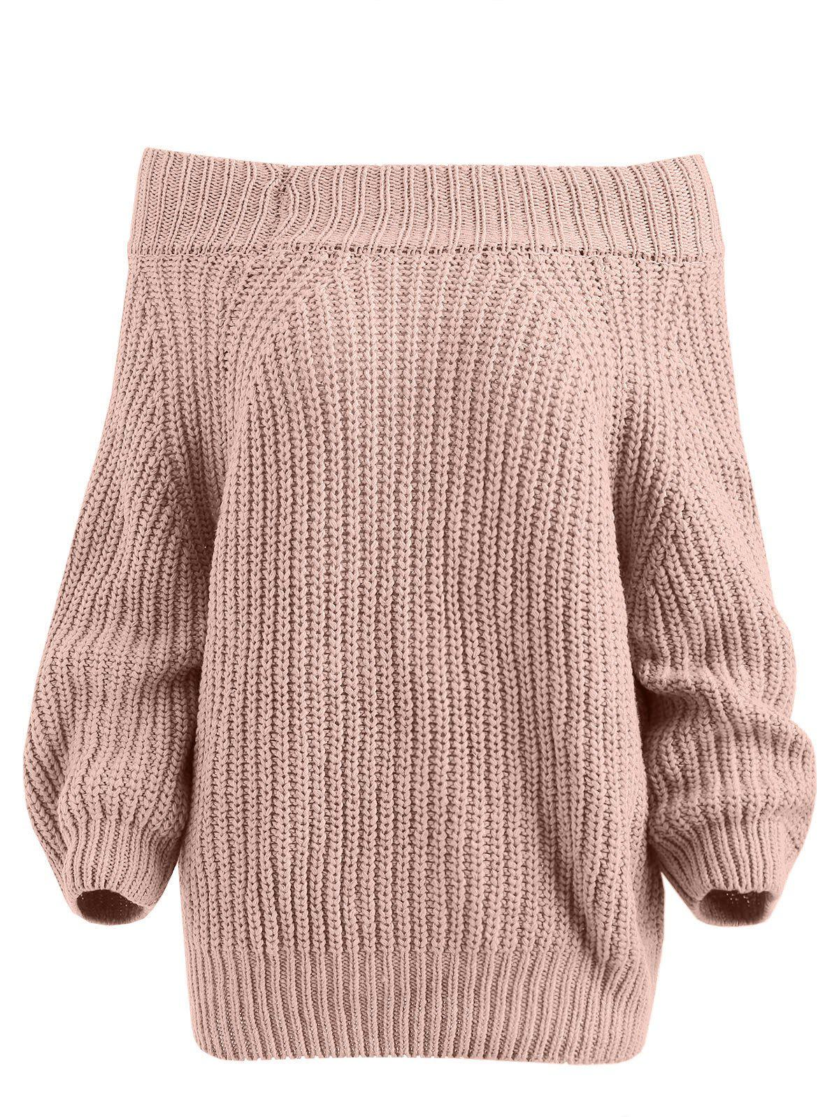 Best Pullover Off The Shoulder Chunky Sweater