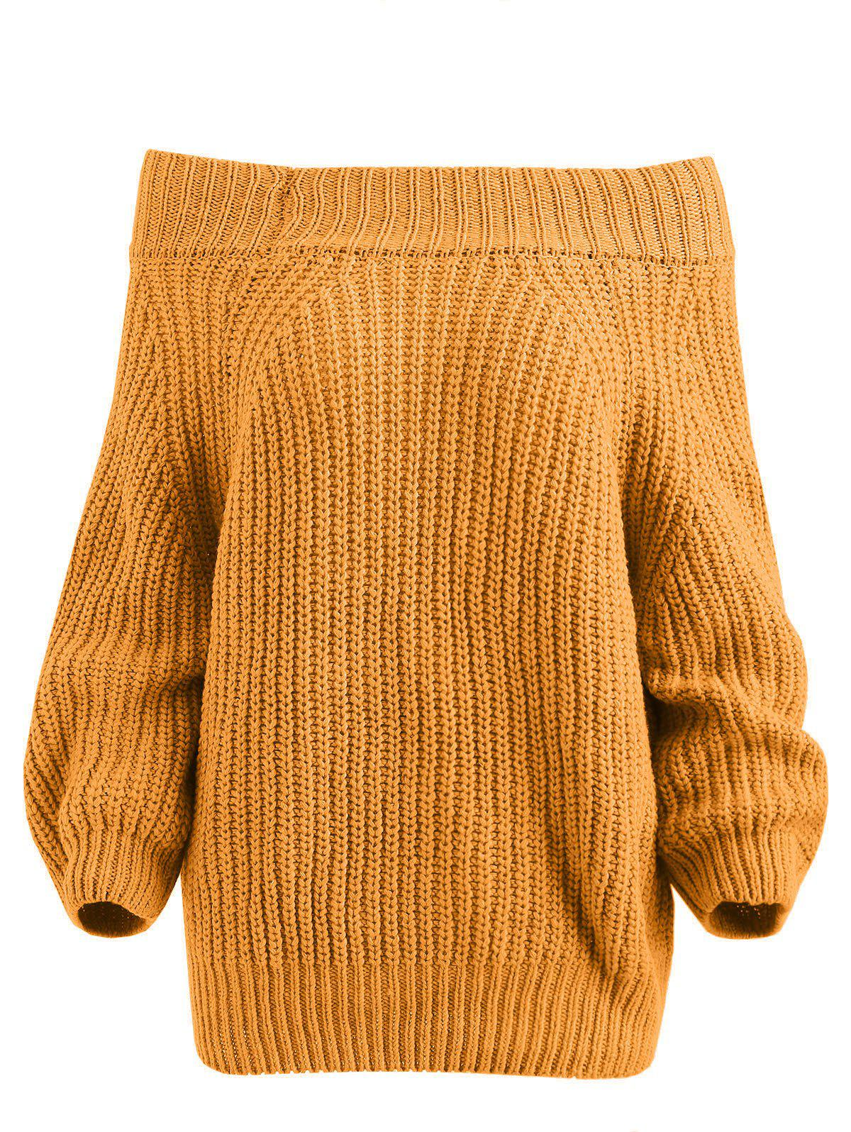 Unique Pullover Off The Shoulder Chunky Sweater