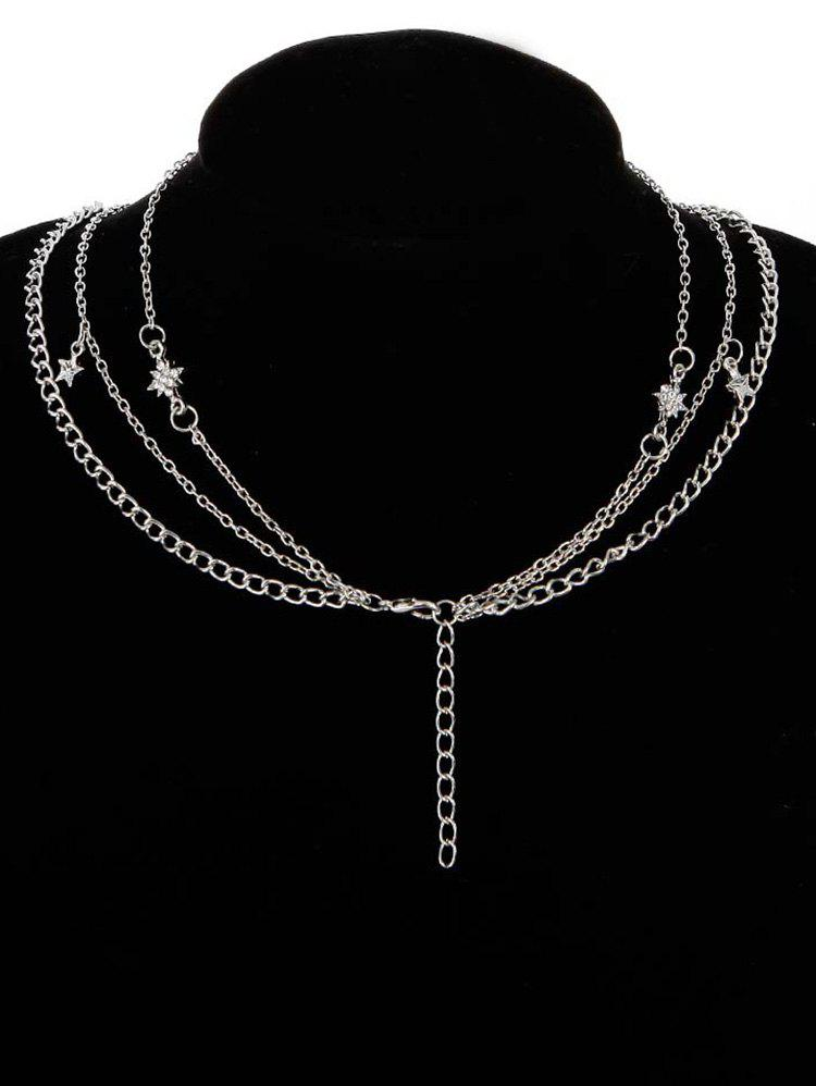 Latest Multi Layers Elephant Star Moon Chain Necklace