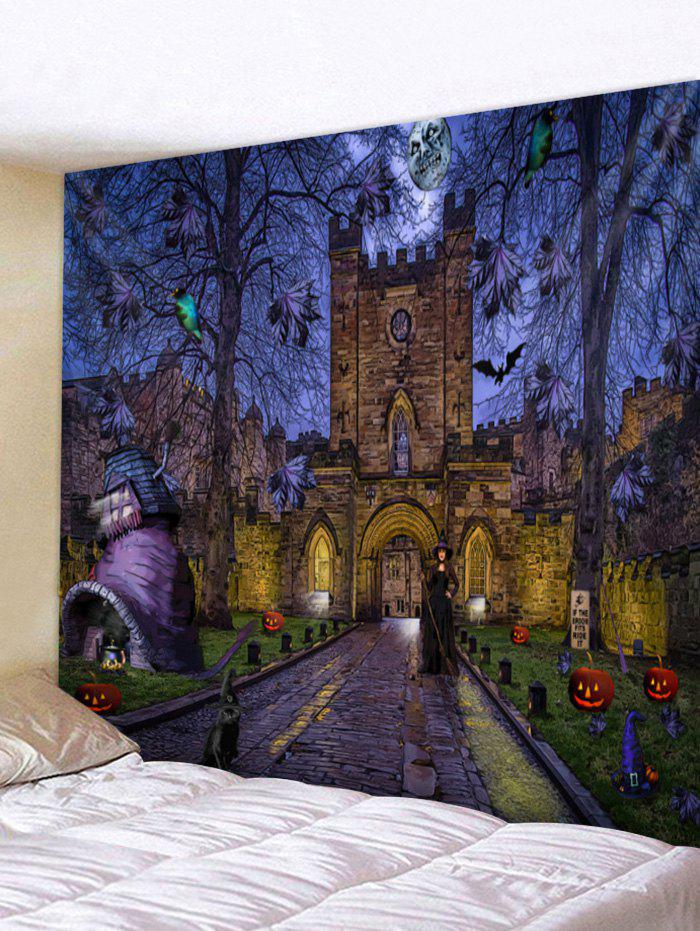 Store Wall Hanging Art Halloween Night Castle Print Tapestry