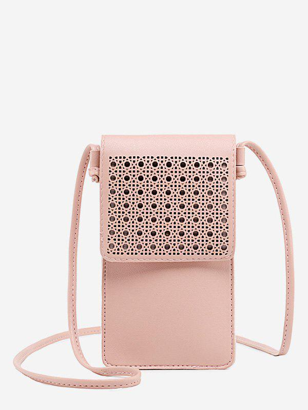 Buy PU Leather Hollow Out Crossbody Bag