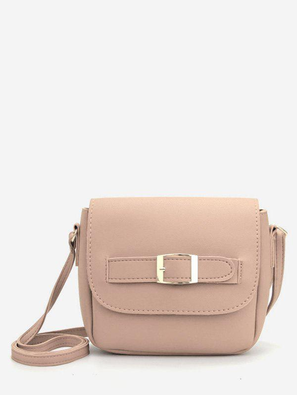Unique Buckle PU Leather Crossbody Bag