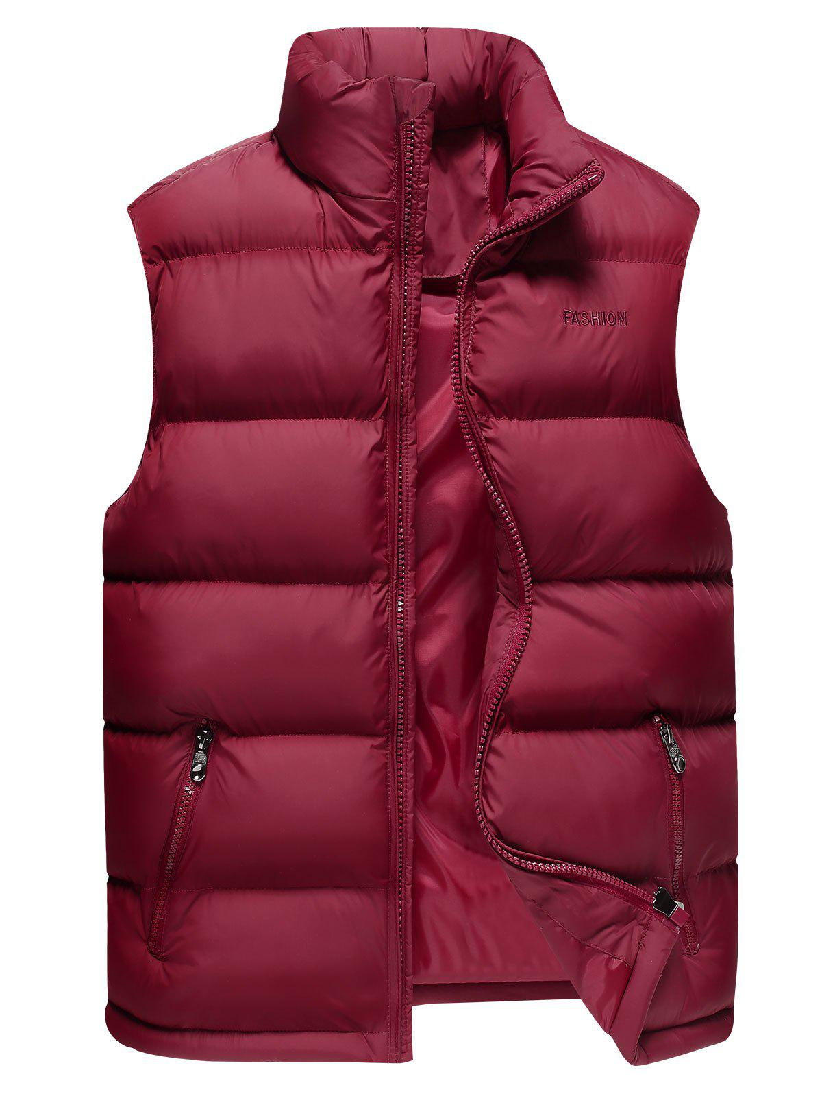 Shop Stand Collar Zip Up Cotton-Padded Vest