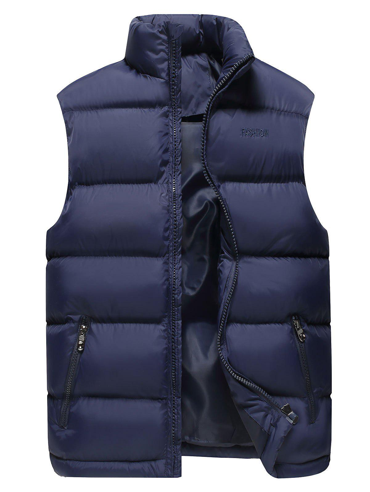 Best Stand Collar Zip Up Cotton-Padded Vest