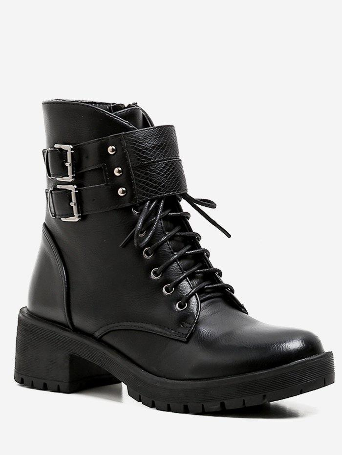 Shops Lace Up Buckle Strap Ankle Boots