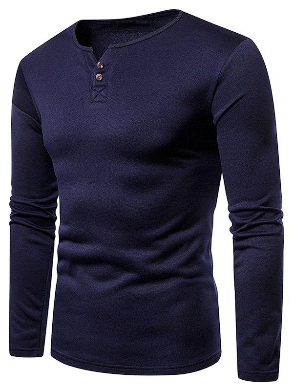 Fancy Henry V Neck Fleece Warm Tee