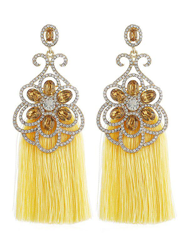 New Bohemian Rhinestone Inlaid Fringed Earrings