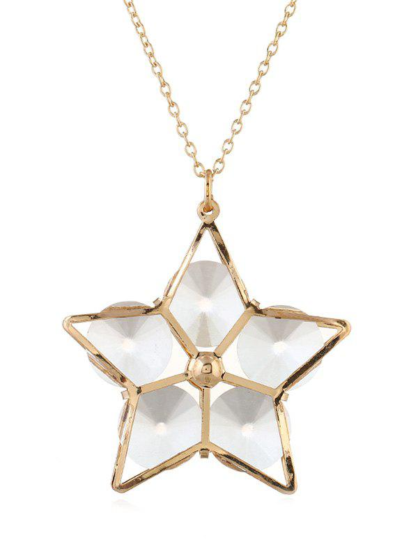 Latest Alloy Star Hollow Out Pendant Necklace