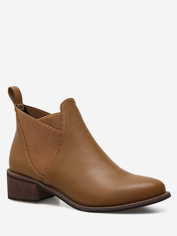 Affordable Pointed Toe Short Chelsea Boots