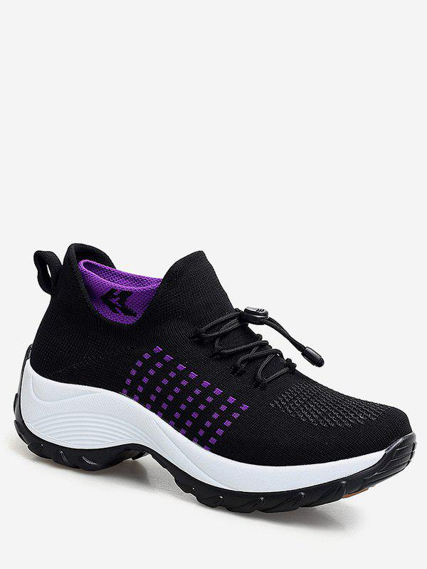 Trendy Drawstring Lace Up Breathable Athletic Sneakers