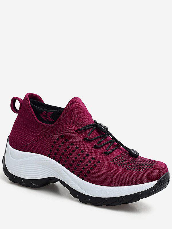 Fancy Drawstring Lace Up Breathable Athletic Sneakers
