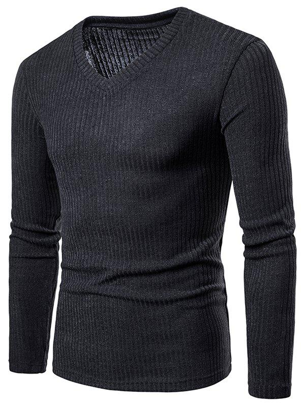 Best Solid Color V Neck Knitwear