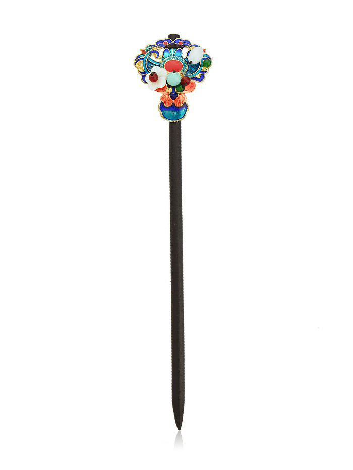 Shops Ethnic Flower Beads Wood Hair Stick