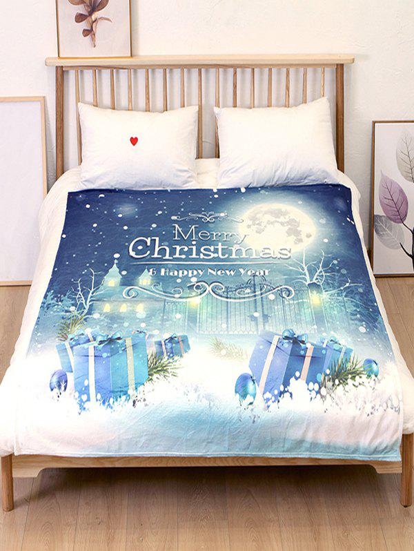 Affordable Gift Merry Christmas Flannel Soft Bed Blanket