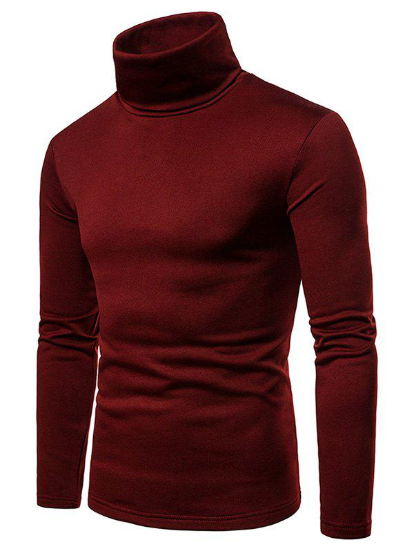 Discount Turtle Neck Solid Color Tee