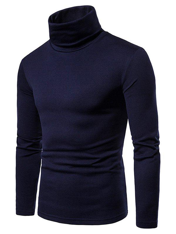 Fancy Turtle Neck Solid Color Tee