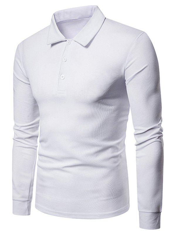 Affordable Solid Color Polo Collar Tee