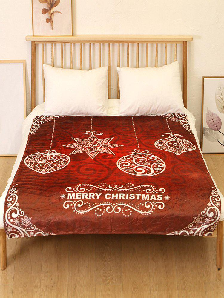 Sale Merry Christmas Snowflake Flannel Soft Bed Blanket