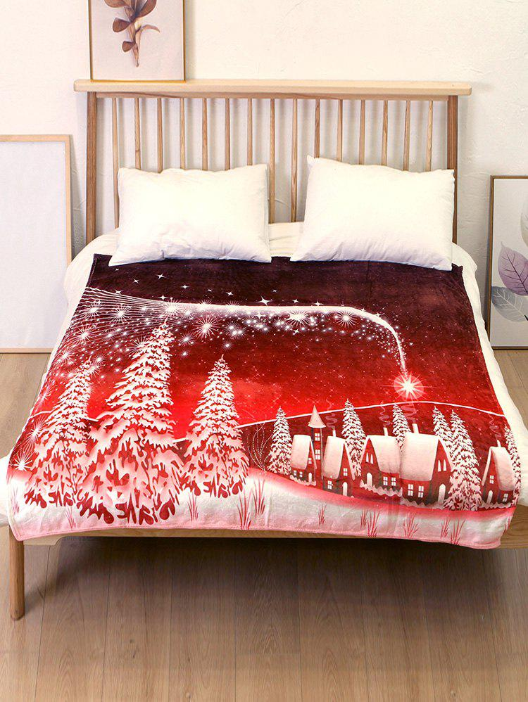 Chic Christmas Tree Flannel Soft Bed Blanket