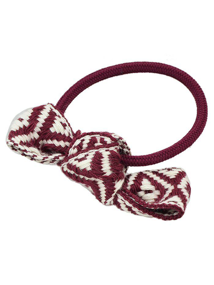 Chic Knitted Bowknot Elastic Hair Band